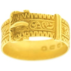 Antique Handmade Gold Buckle Ring