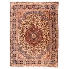 Antique Handmade Isfahan Rug