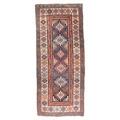 Antique Handmade Kazak Russian Rug