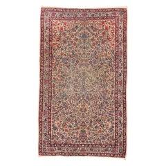 Antique Handmade Kerman Lavar Persian Rug