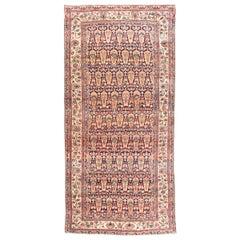 Antique Handmade Lavar Kerman Persian Rug
