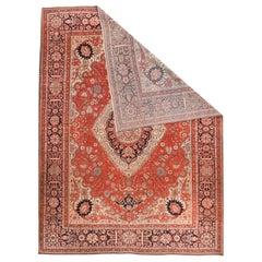 Antique Handmade Mohtasham Kashan Persian Rug
