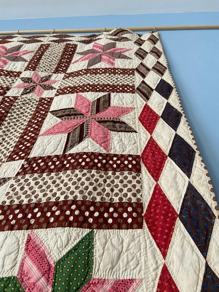 Textile Antique Handmade Patchwork Quilt