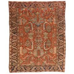 Antique Handmade Serapi Persian Rug