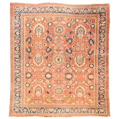 Antique Handmade Sultanabad Persian Rug