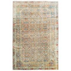 Antique Handmade Turkish Herekeh Accent Rug