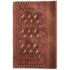 Antique Handwoven Red Wool Afghan Rug