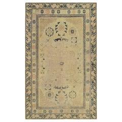 Antique Handwoven Samarkand Khotan Rug