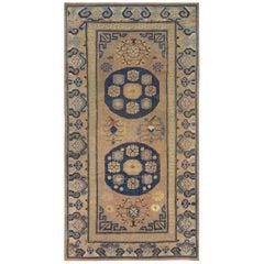 Antique Handwoven Wool Persian Khotan Runner