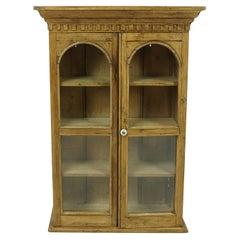 Antique Hanging Cabinet, Victorian Pine Cabinet, Scotland, 1880