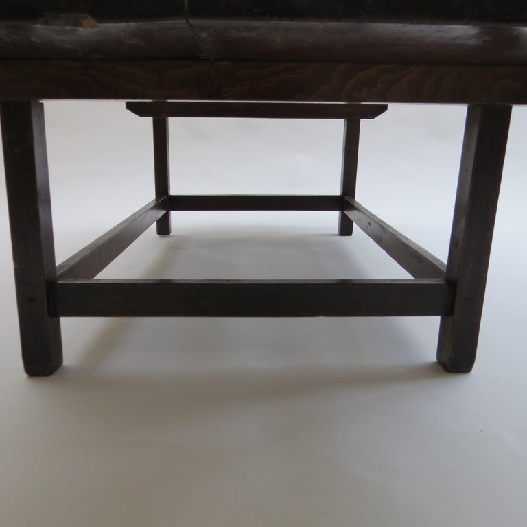 Hand-Crafted Antique Hardwood Coffee Table Japanese Origin, 19th Century