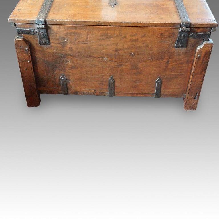 Antique Hardwood Merchant Chest For Sale 4