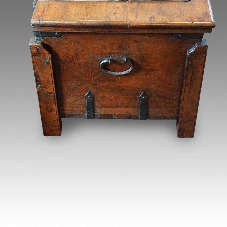 Antique Hardwood Merchant Chest For Sale 5