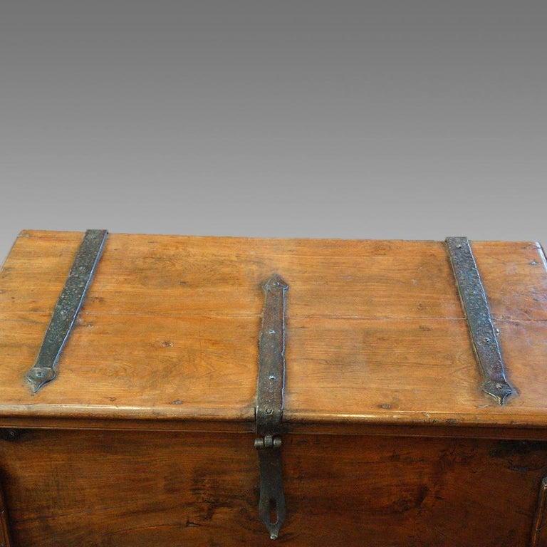 Antique Hardwood Merchant Chest For Sale 7