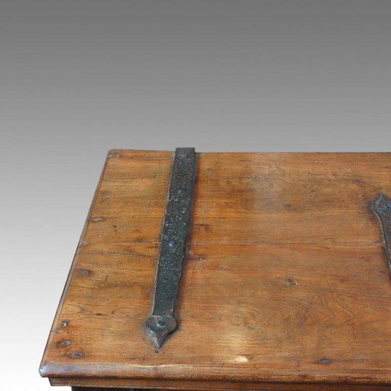 Antique Hardwood Merchant Chest For Sale 8