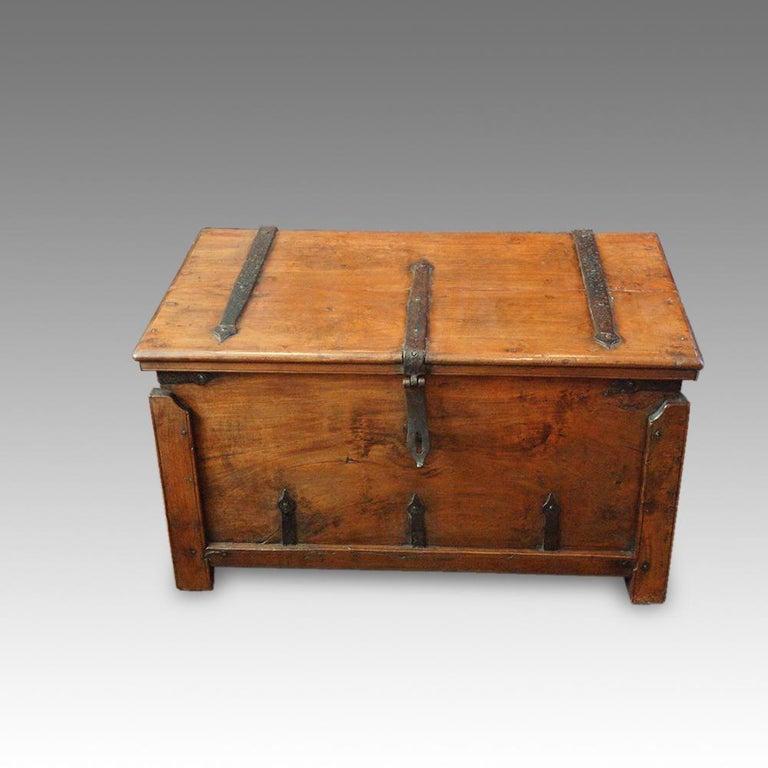 Antique Hardwood Merchant Chest For Sale 9