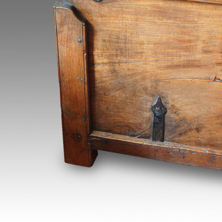 Anglo-Indian Antique Hardwood Merchant Chest For Sale
