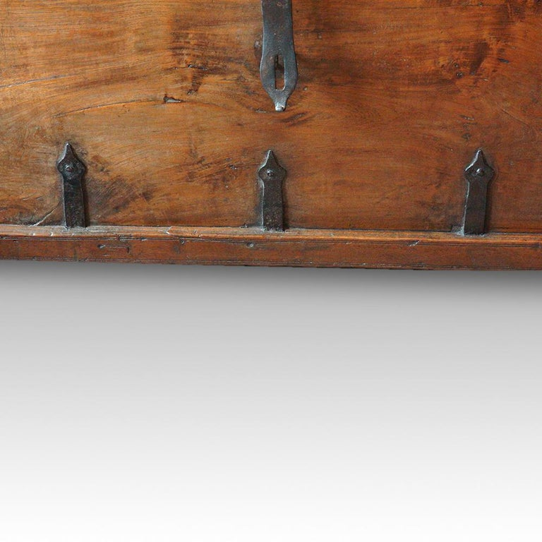 English Antique Hardwood Merchant Chest For Sale