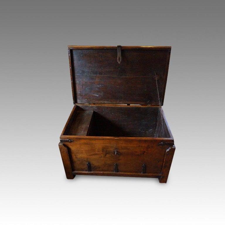 Antique Hardwood Merchant Chest For Sale 2