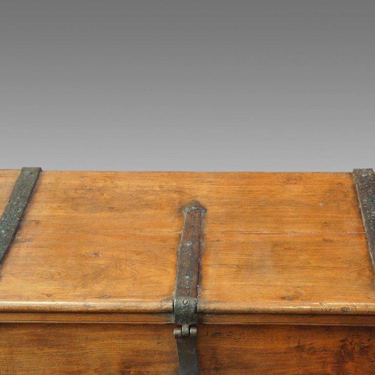 Antique Hardwood Merchant Chest For Sale 3