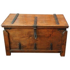 Antique Hardwood Merchant Chest