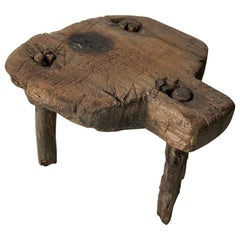 Antique Hardwood Stool from Mexico, circa 1890s