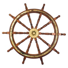 Antique Harland & Wolff, Belfast, Ship's Wheel, 19th Century