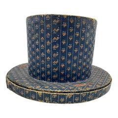 Antique Hat Box Top Hat Biedermeier, Austria