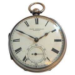 Antique Heavy Key-Wind John Forrest London Silver Pocket Watch