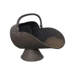 Antique Helmet Scuttle, English, Copper, Fireside, Coal, Bucket, Victorian, 1870