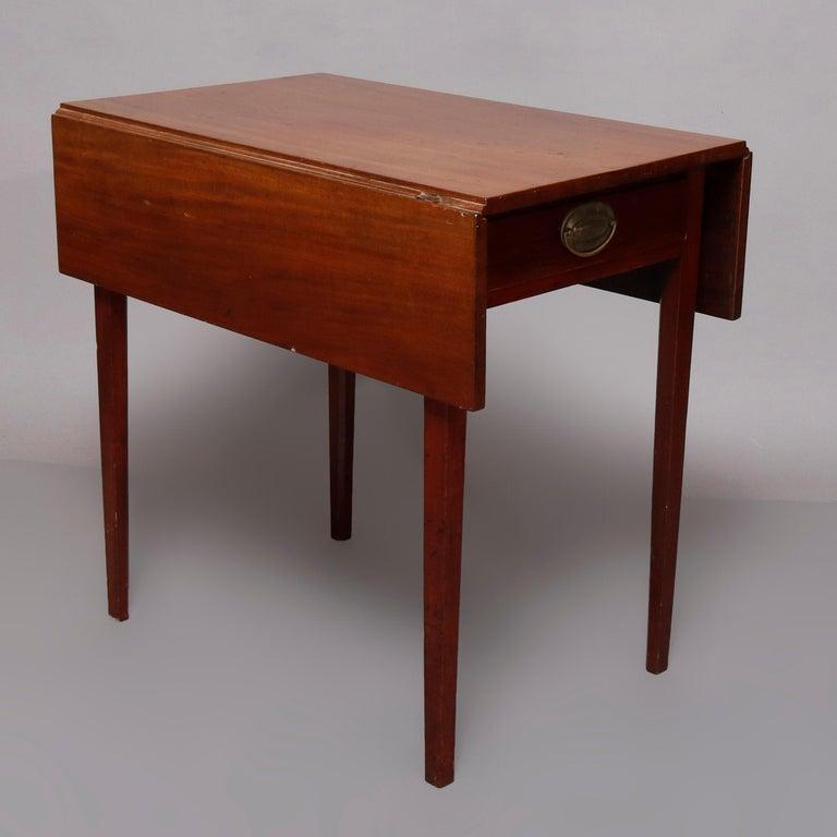 Le Grand 6 Drawer Dresser In Antique White: Antique Hepplewhite Style Mahogany Pembroke Single Drawer