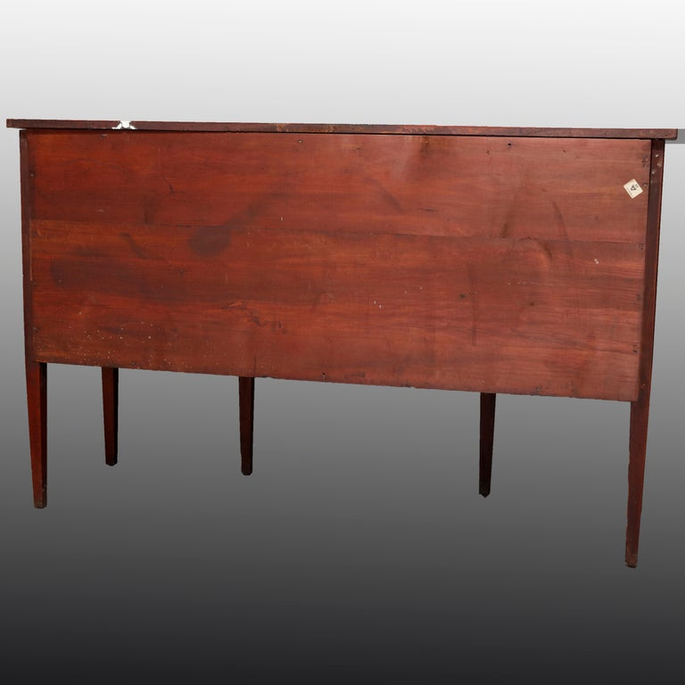 Antique Hepplewhite Style Satinwood Marquetry Inlaid Mahogany Sideboard For Sale 1