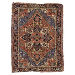 Antique Heriz Persian Area Rug with Federal and American Colonial Style