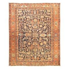 Antique Heriz Rug Carpet, circa 1900, 9'2 x 11'5