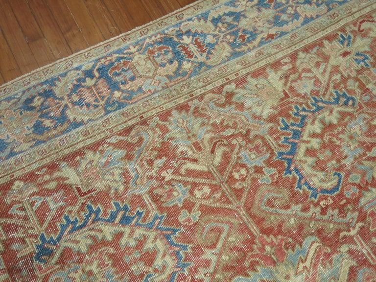 Persian Antique Heriz Rug For Sale