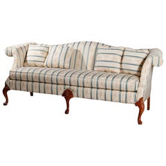 Antique Hickory Furniture Company Queen Anne Style Mahogany Sofa, 20th Century