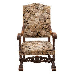 Antique High Back Parlor Chair, France