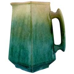 Antique Höganäs Art Nouveau Jug in Glazed Ceramics, Early 20th Century