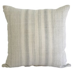 Antique Homespun Linen and Striped Grain Sack Pillow