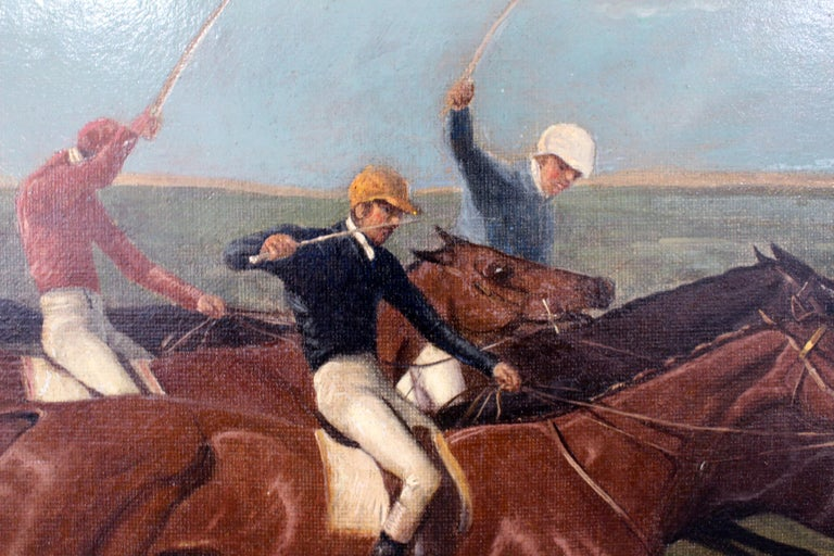 Excellent example of 19th century sporting painting with amazing color and detail.