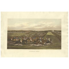 Antique Horse Racing Print 'Tattenham Corner' Made after H. Alken, circa 1900