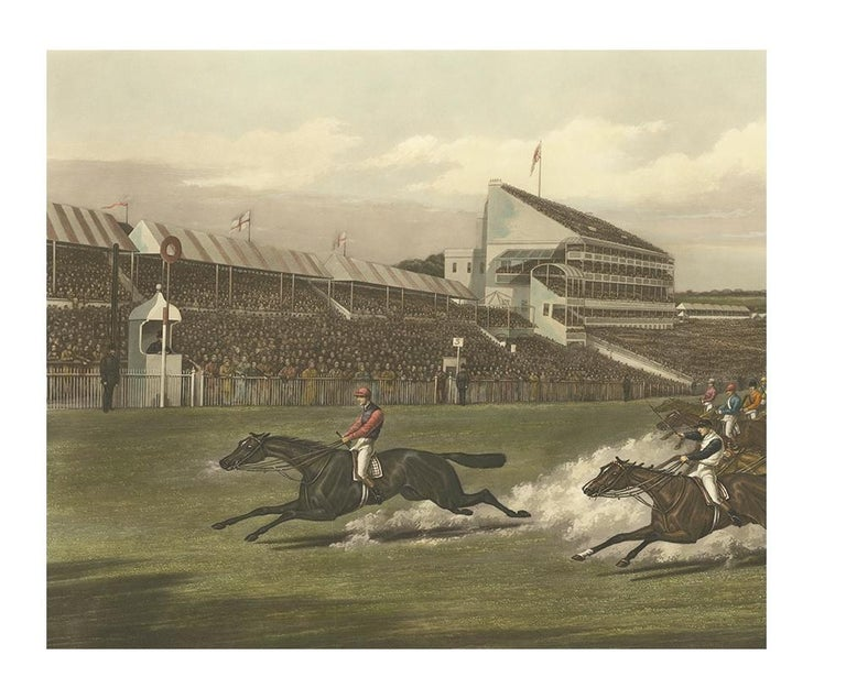 Antique Horse Racing Print 'The Winning Post' Made after H. Alken, circa 1900 In Good Condition For Sale In Langweer, NL
