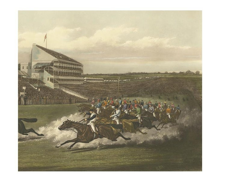 20th Century Antique Horse Racing Print 'The Winning Post' Made after H. Alken, circa 1900 For Sale