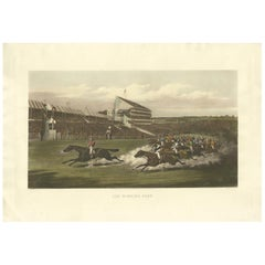 Antique Horse Racing Print 'The Winning Post' Made after H. Alken, circa 1900