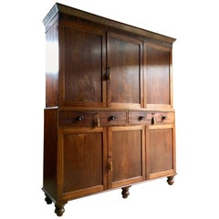 Antique Housekeepers Cupboard Cabinet Mahogany Victorian 19th Century