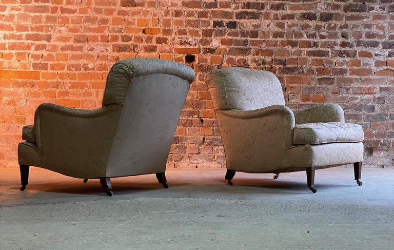 Victorian Antique Howard & Sons 'Bridgewater' Armchairs 19th Century, circa 1890 For Sale