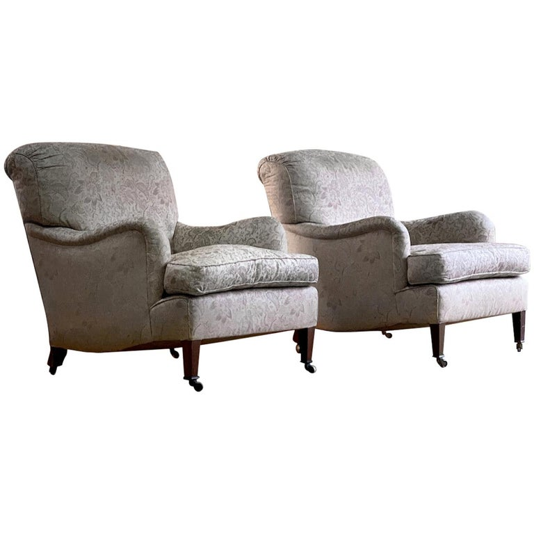 Antique Howard & Sons 'Bridgewater' Armchairs 19th Century, circa 1890 For Sale