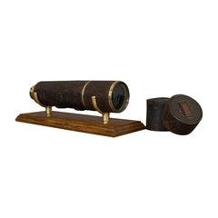 Antique Hughes Telescope, English, 5 Draw, Terrestrial, Astronomical, Regency
