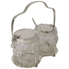 Antique Hukin & Heath Double Automated Preserve Jars c.1900