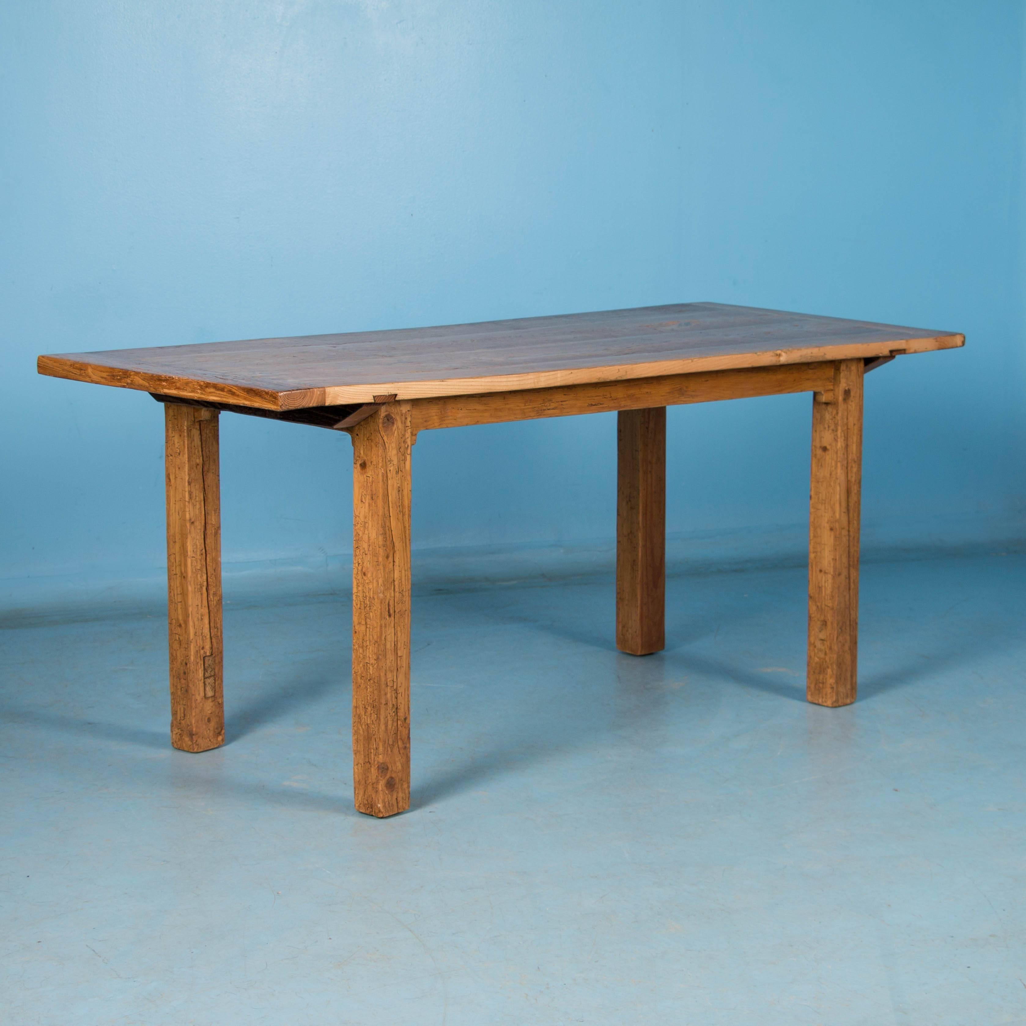 Antique Hungarian Elm Country Farmhouse Table or Dining Table For ...
